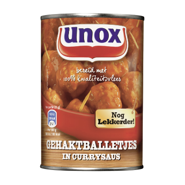 Unox Gehaktballetjes In Currysaus 420 g