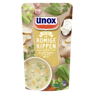 Unox Soep In Zak Romige kippensoep 570 ml