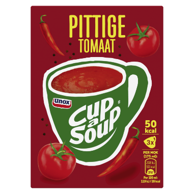 Unox Cup A Soup PITTIGE TOMAAT 48 GR